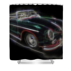 Vintage Shower Curtain by Kenneth Armand Johnson
