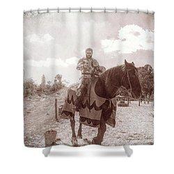 Vintage Knight Shower Curtain