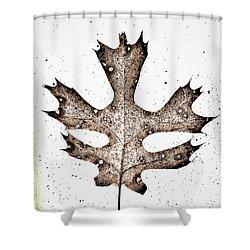 Vintage Leaf Shower Curtain