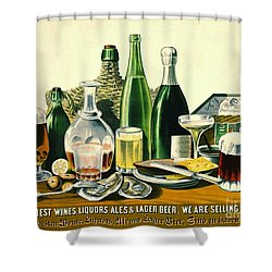 Vintage Liquor Ad 1871 Shower Curtain by Padre Art