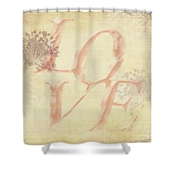 Vintage Love Shower Curtain by Caitlyn Grasso