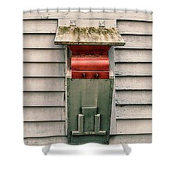 Shower Curtain featuring the photograph Vintage Mailbox by Gary Slawsky