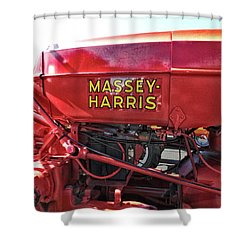 Vintage Massey Harris Tractor Shower Curtain