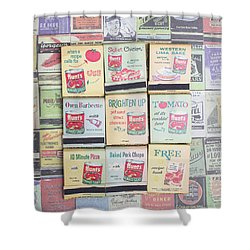 Shower Curtain featuring the photograph Vintage Matchbooks by Edward Fielding