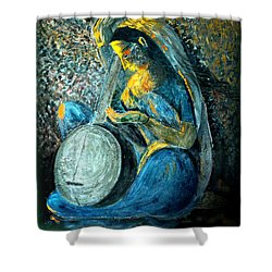 Vintage - Meera - Singing For Krishna Shower Curtain