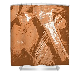 Vintage Miners Hammer Artwork Shower Curtain