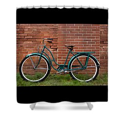 Vintage Montgomery Ward Bicycle 2 Shower Curtain