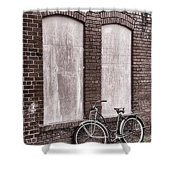 Vintage Montgomery Ward Bicycle 4 - B/w Shower Curtain