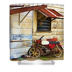 Vintage Motorbike Shower Curtain