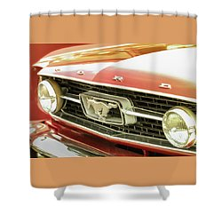 Vintage Mustang Shower Curtain by Caitlyn Grasso