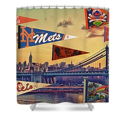 Vintage New York Mets Shower Curtain