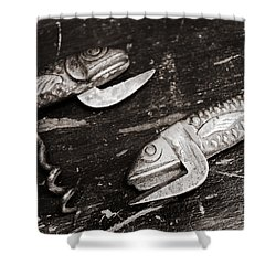 Shower Curtain featuring the photograph Vintage Openers  by Andrey  Godyaykin