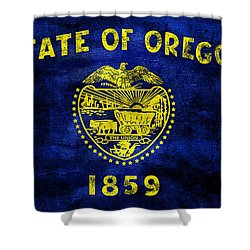 Vintage Oregon Flag Shower Curtain