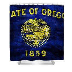 Vintage Oregon Flag Shower Curtain by Jon Neidert