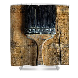 Vintage Paint Brush Shower Curtain