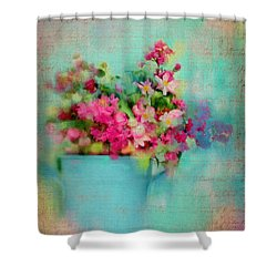 Flowers From A Cottage Garden Shower Curtain