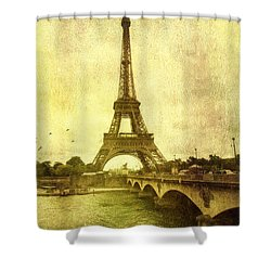 Shower Curtain featuring the photograph Vintage Paris by John Rivera