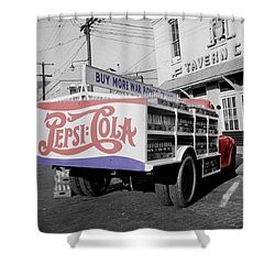 Vintage Pepsi Truck Shower Curtain by Andrew Fare