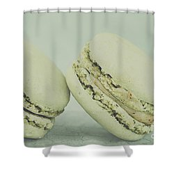 Vintage  Pistachio Macarons Shower Curtain