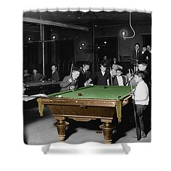 Vintage Pool Hall Shower Curtain by Andrew Fare