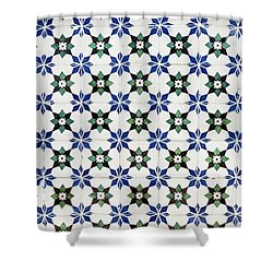 Vintage Portuguese Tiles Shower Curtain