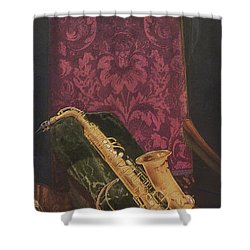Vintage Poster Shower Curtain