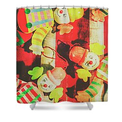 Vintage Pull String Puppets Shower Curtain by Jorgo Photography - Wall Art Gallery