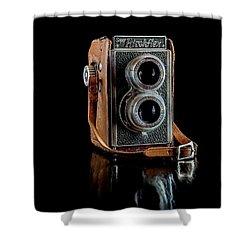 Vintage Ricohflex Camera Shower Curtain