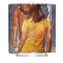 Vintage Rio Shower Curtain by Andrea Barbieri
