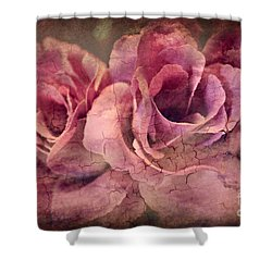 Vintage Roses - Deep Pink Shower Curtain