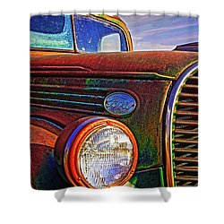 Vintage Rust N Colors Shower Curtain