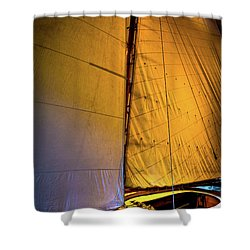 Shower Curtain featuring the photograph Vintage Sailboat by David Patterson