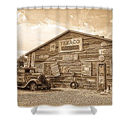 Vintage Service Station Shower Curtain