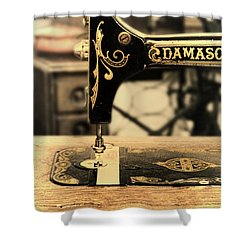 Shower Curtain featuring the photograph Vintage Sewing Machine by Jill Battaglia