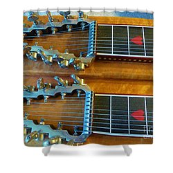 Vintage Sho-bud Pedal Steel Shower Curtain