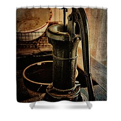 Vintage Sink Shower Curtain by Lana Trussell