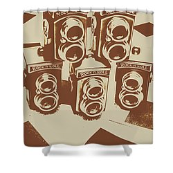 Vintage Snapshots And Old Cameras Shower Curtain