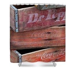 Vintage Soda Crates Shower Curtain
