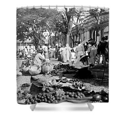 Vintage Street Scene In Ponce - Puerto Rico - C 1899 Shower Curtain by International  Images