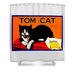 Vintage Sunkist Tom Cat Shower Curtain