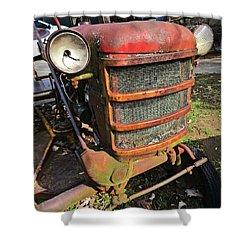 Vintage Tractor Mower Shower Curtain