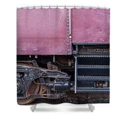 Vintage Train Car Steps Shower Curtain by Terry DeLuco
