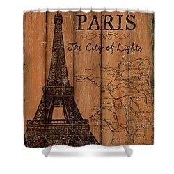 Vintage Travel Paris Shower Curtain