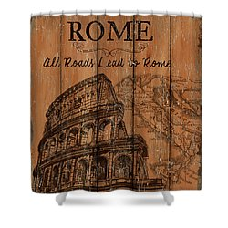 Shower Curtain featuring the painting Vintage Travel Rome by Debbie DeWitt