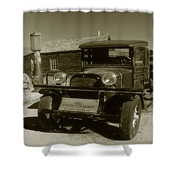 Old Truck 1927 - Vintage Photo Art Print Shower Curtain by Art America Gallery Peter Potter