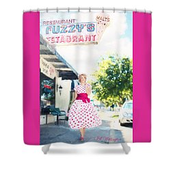 Vintage Val Ice Cream Parlor Shower Curtain