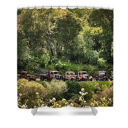Vintage Vehicles In The Spring Shower Curtain