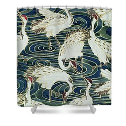 Vintage Wallpaper Design Shower Curtain