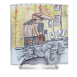 Vintage Wash Day Shower Curtain by Clyde J Kell
