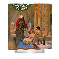 Vintage Whiskey Ad 1883 Shower Curtain by Padre Art